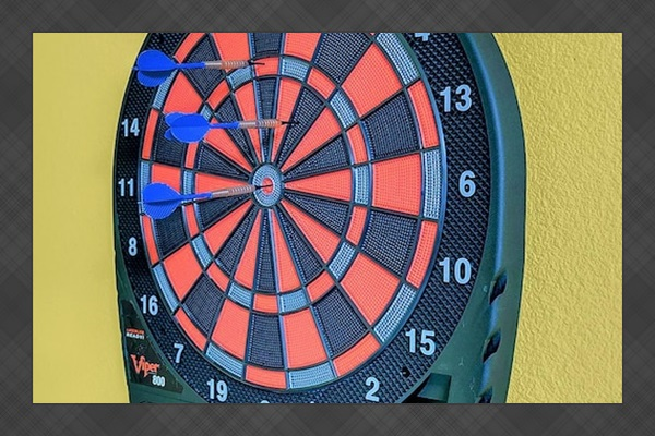 An electronic dart board.
