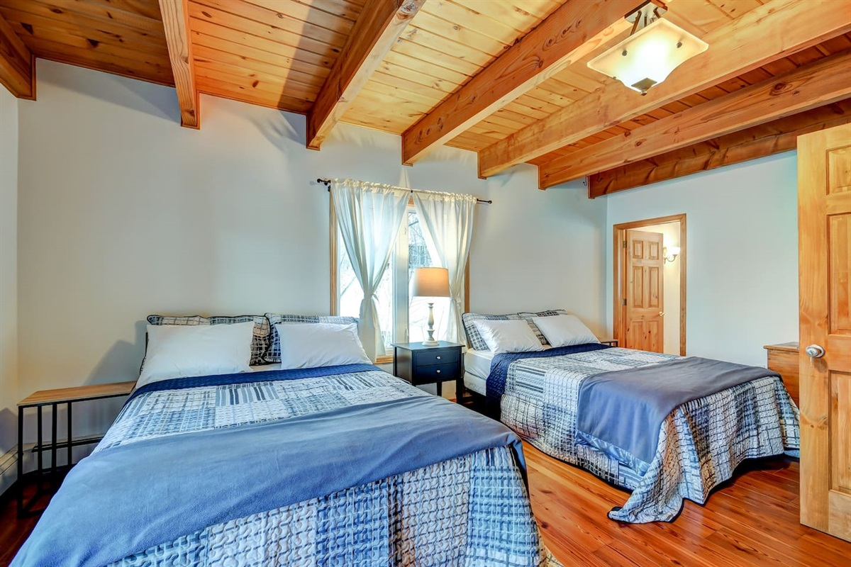 The main floor bedroom has a small room with a single bed off it which is perfect for the kids who like to be close to their parents.