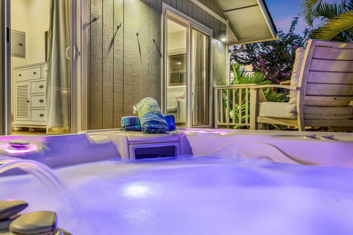 Adjust the spa lighting to fit your mood