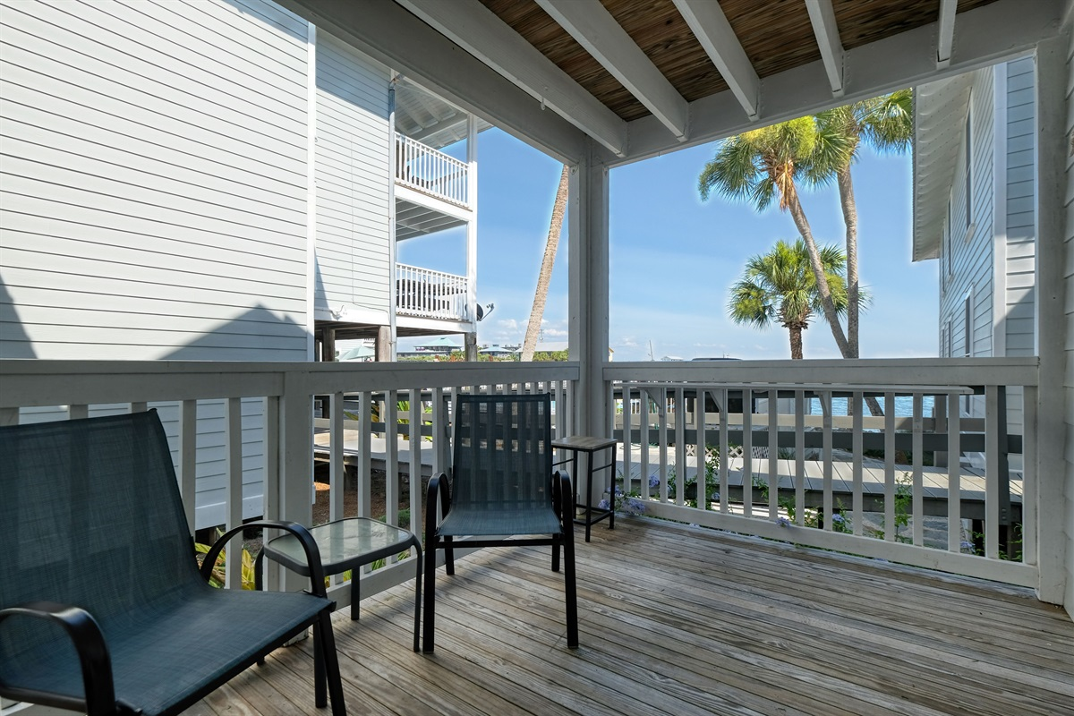 Views of the Gulf from the porch