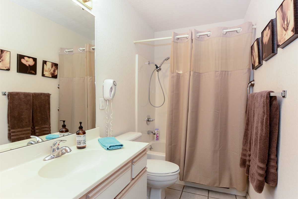 The second bathroom is adjacent to the second bedroom