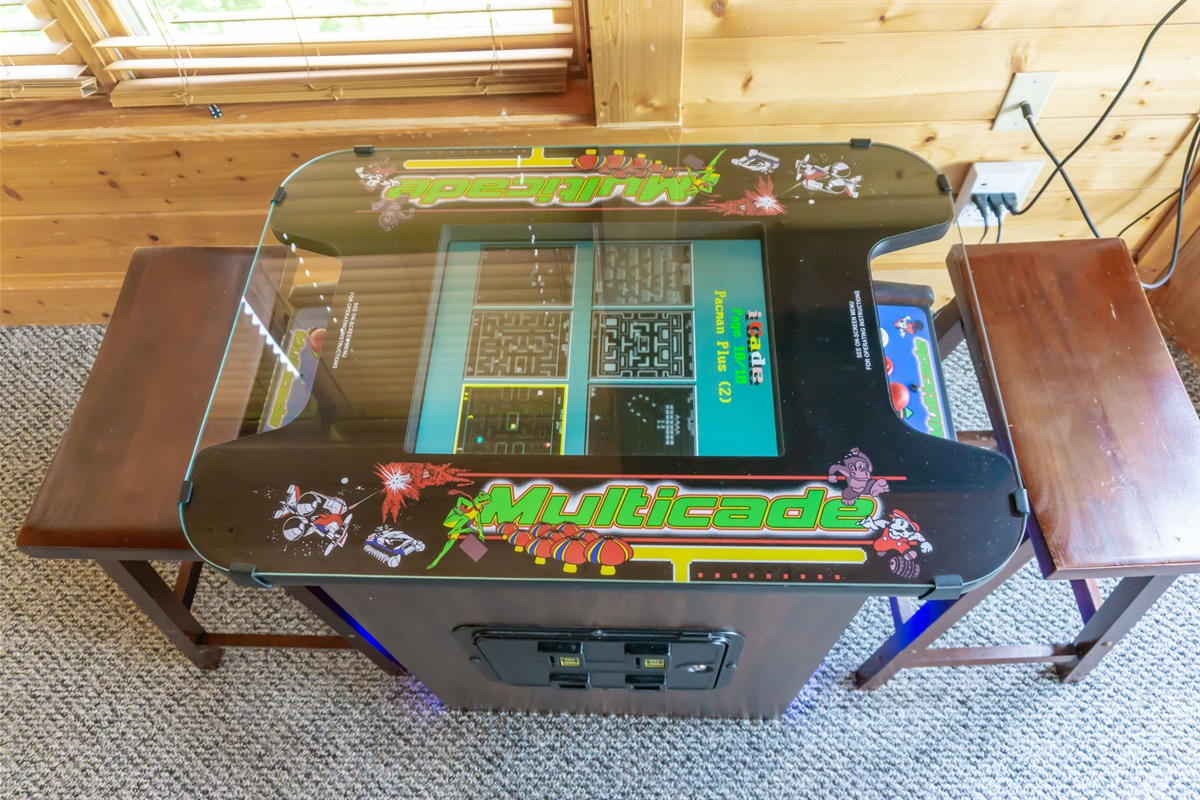 arcade gaming system on lower level