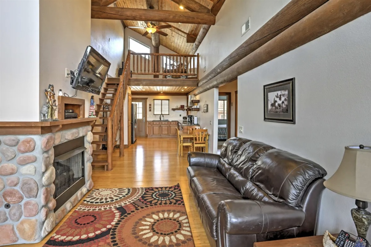Upstairs living area