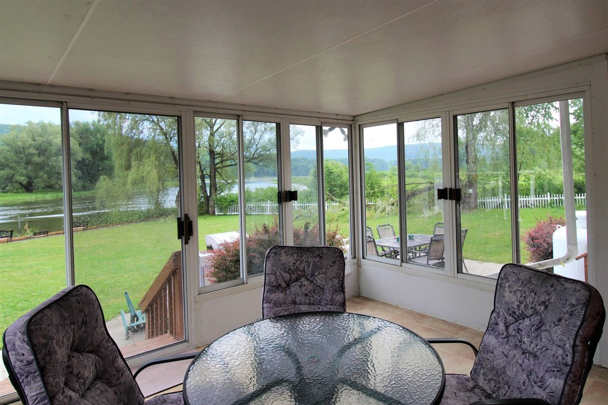 Enjoy the view of the water and watching birds and wildlife