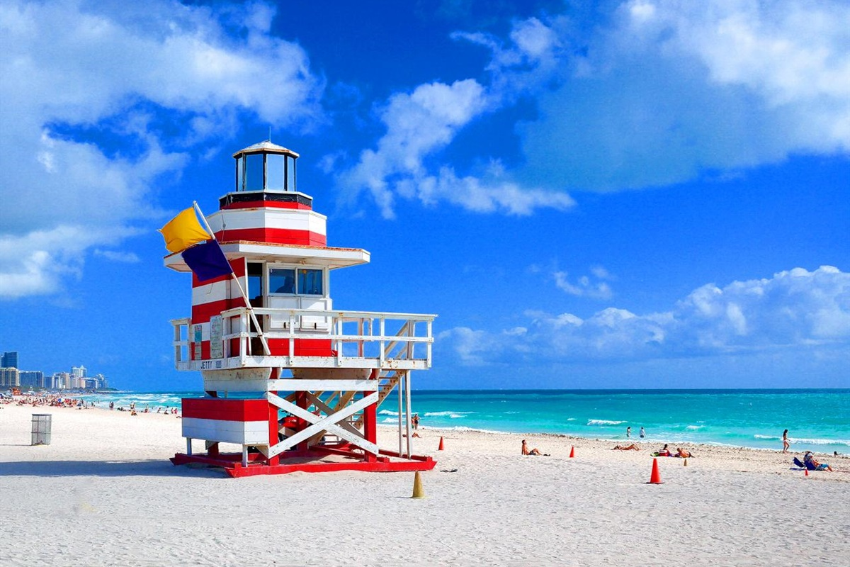 Miami Beach's famous lifeguard stands.