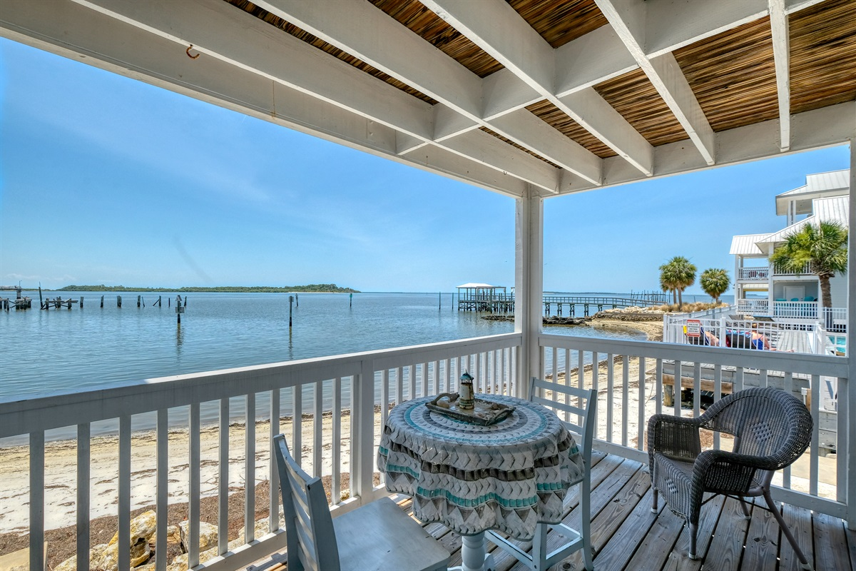 Stunning Gulf views from your private porch