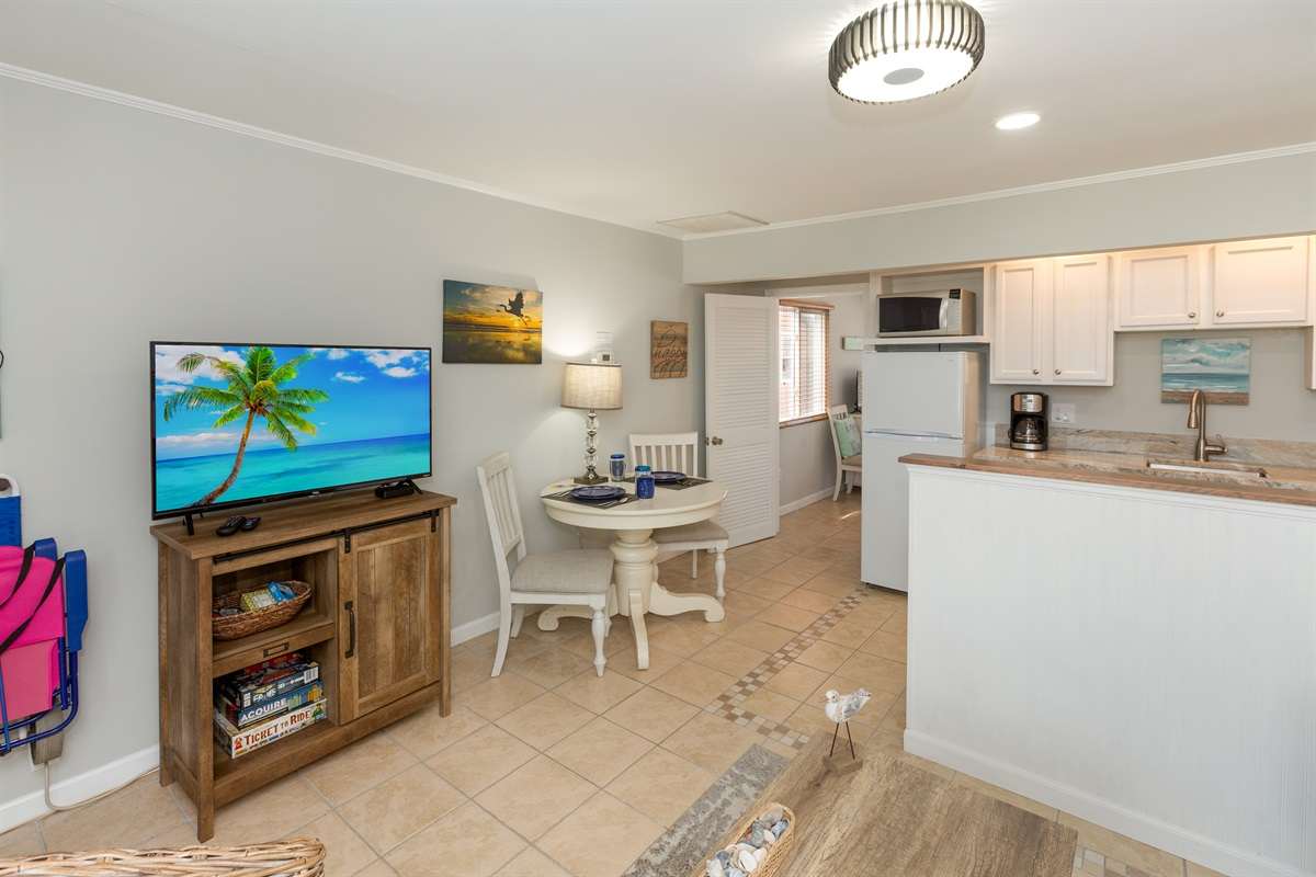 Breaking Away - lots of light, efficient use of space, full kitchen with all essentials.