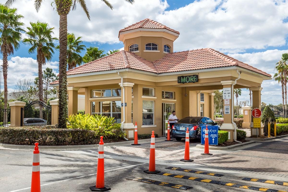 Windsor HIlls Resort Guard Gated Entry