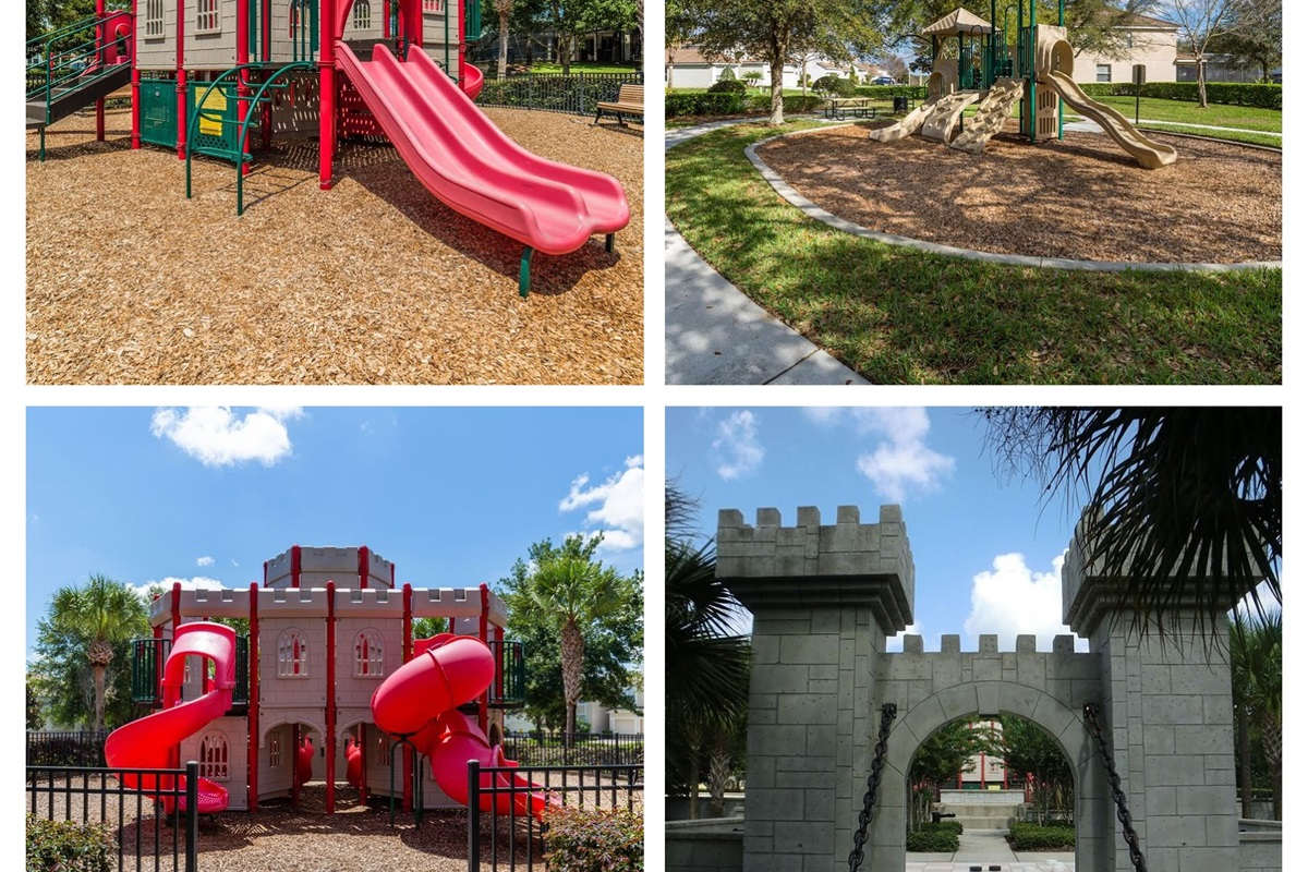 Windsor Hills features three separate playgrounds located throughout the resort.