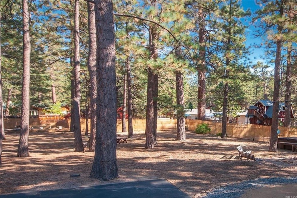 The large lot is fully fenced and safe for family and pets.