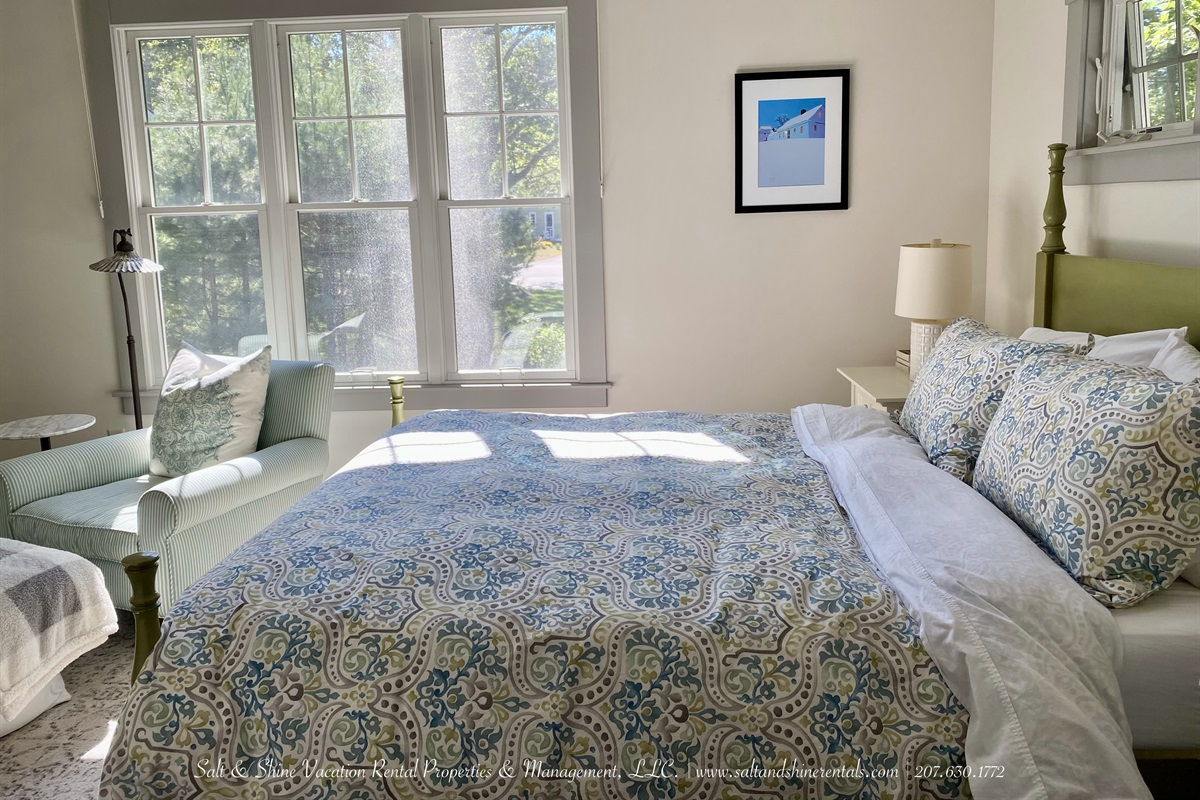 Main living level Primary bedroom with Queen bed