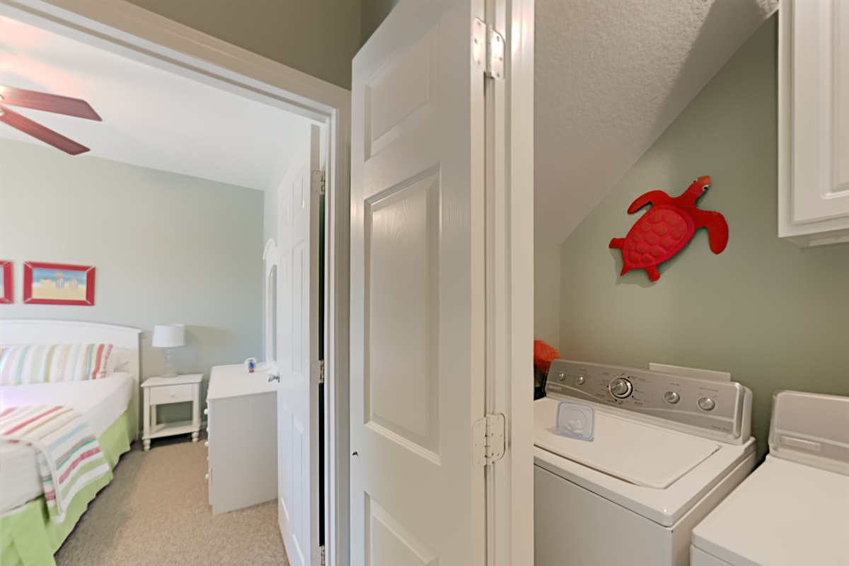 Washer/Dryer close to bedrooms