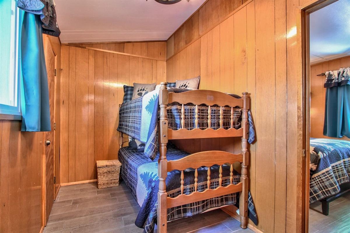 Bedroom #2: Single Bunk Beds