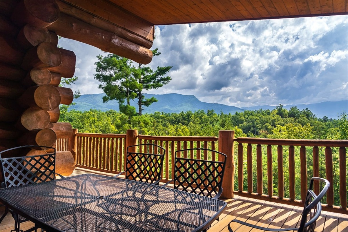 Amazing private views of the Smoky Mountains from the two huge decks