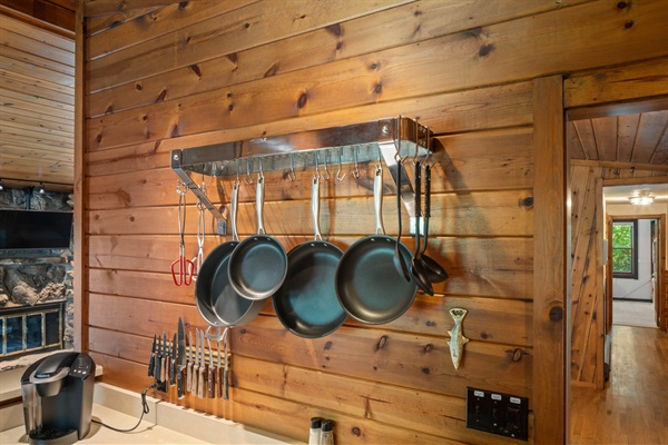The kitchen is fully equipped to make your meals at the cottage as effortless as possible.