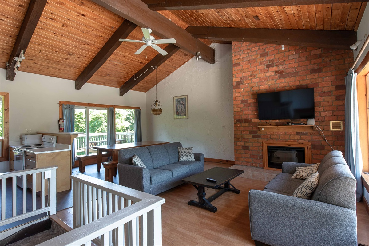 """Bear"" - Open concept living, dining & kitchen"