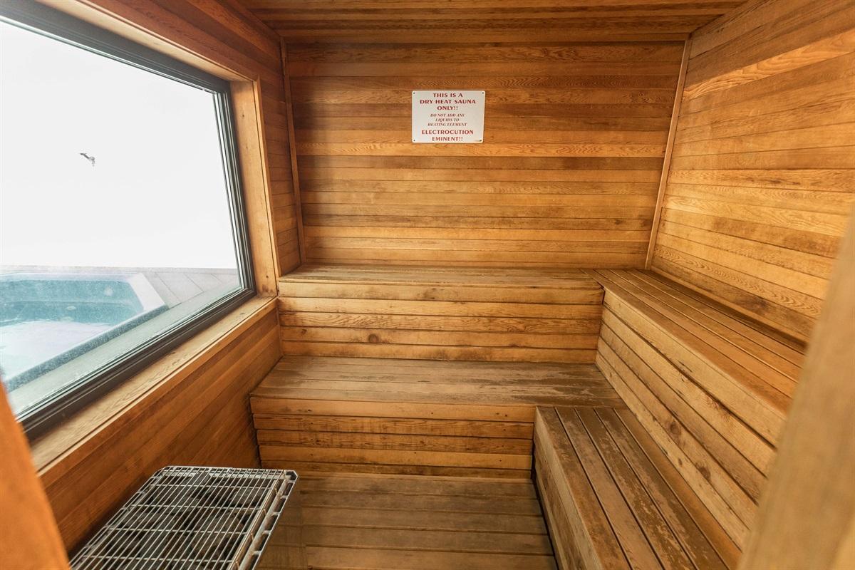 Cleanse in the sauna