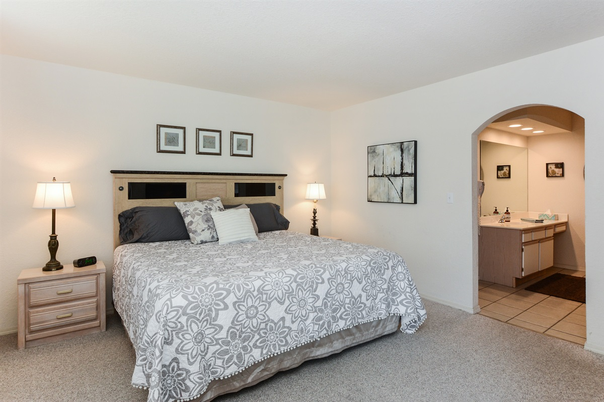 The Master Suite is bright and airy!