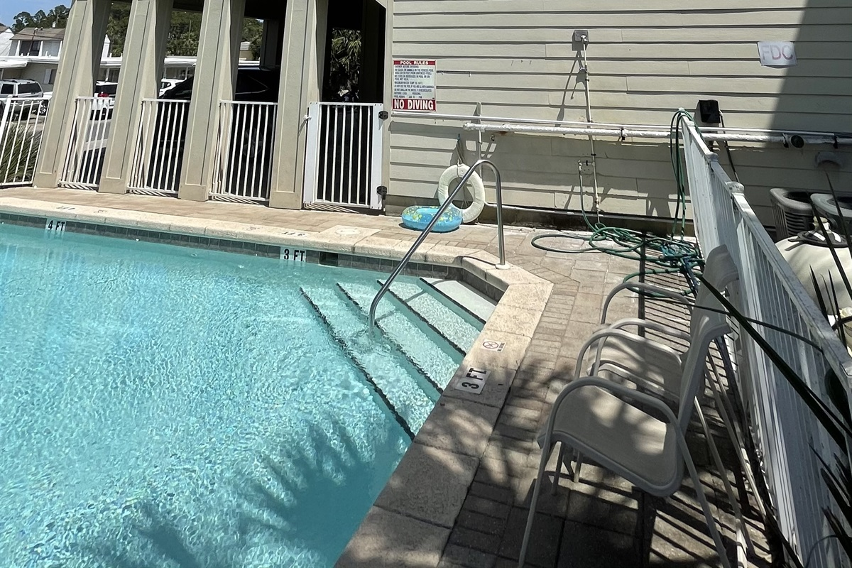 Villa is next to pool