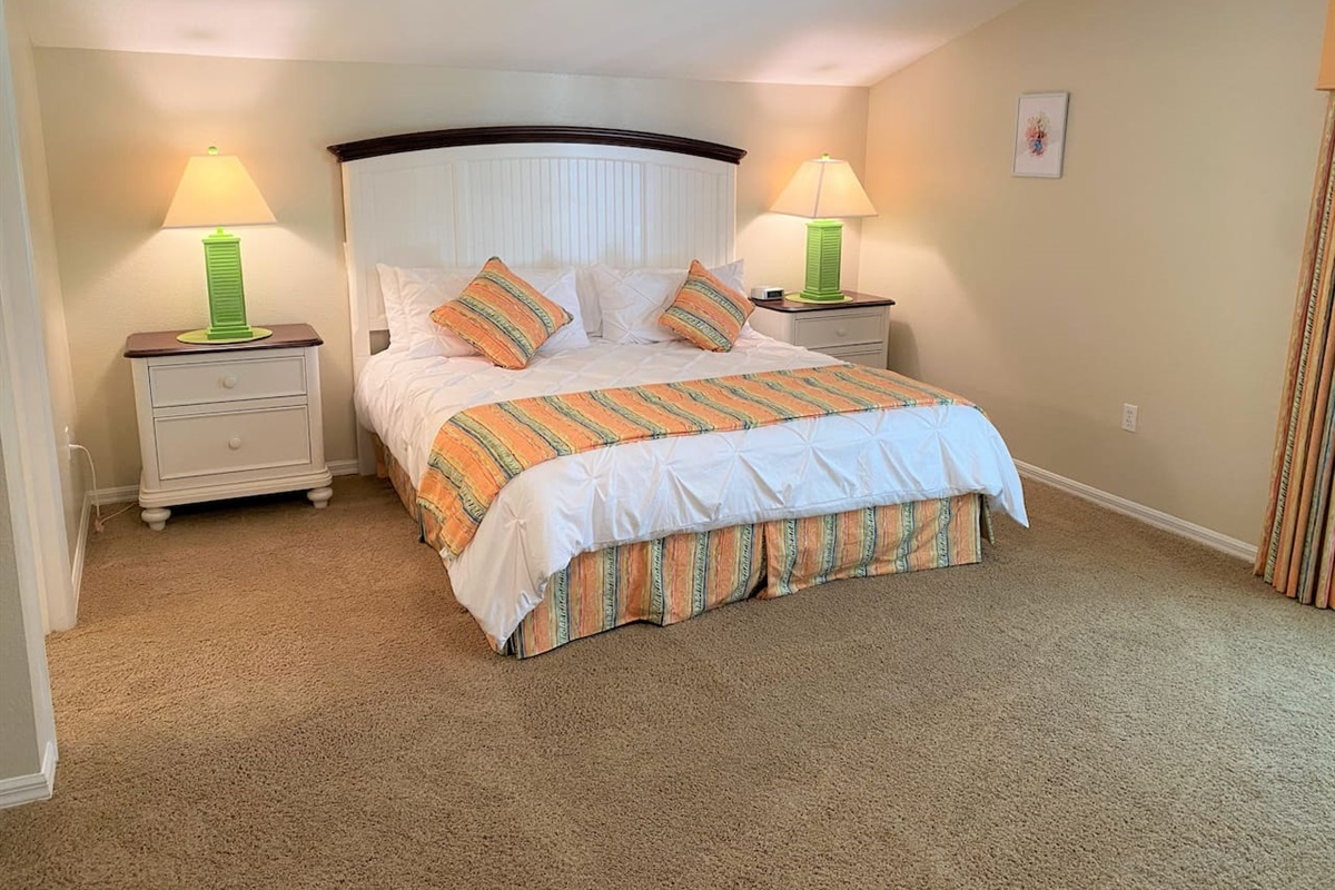 Multiple master bedrooms with King Beds with clean fresh linen