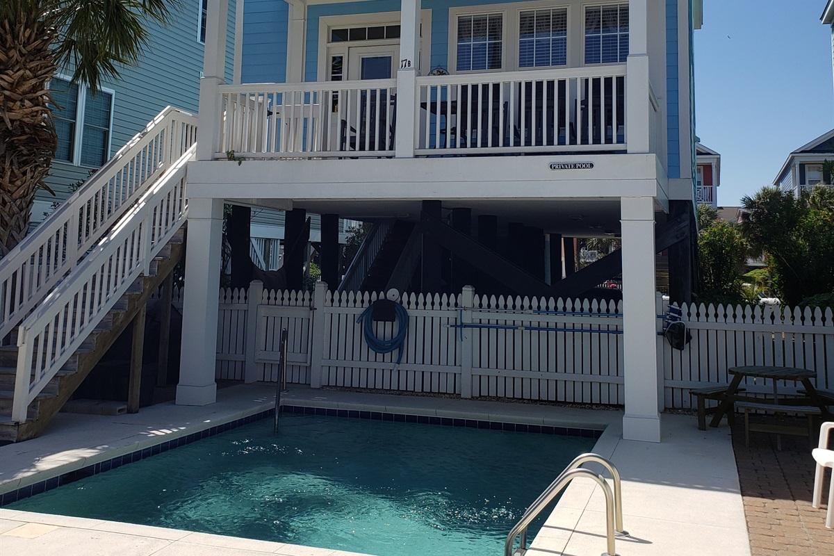 Ocean Side of House- Pool Area