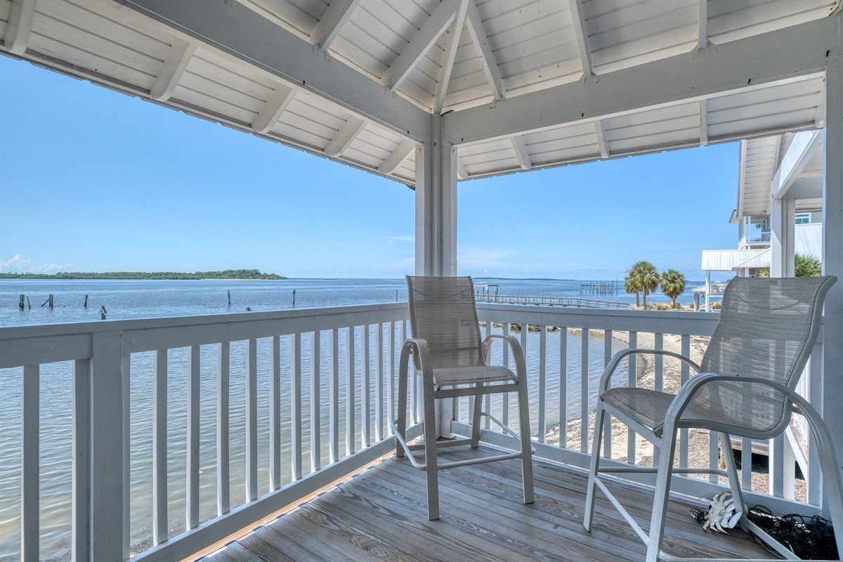 Relax on the porch while taking in the views
