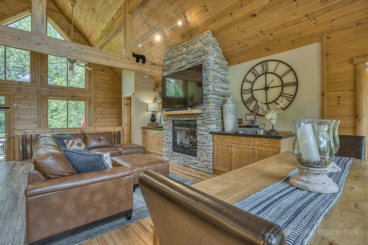 Great room with gas log fireplace