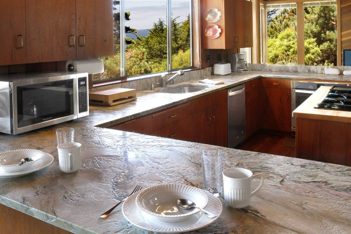 Ocean Bluff Serenity Kitchen Counter with Seating