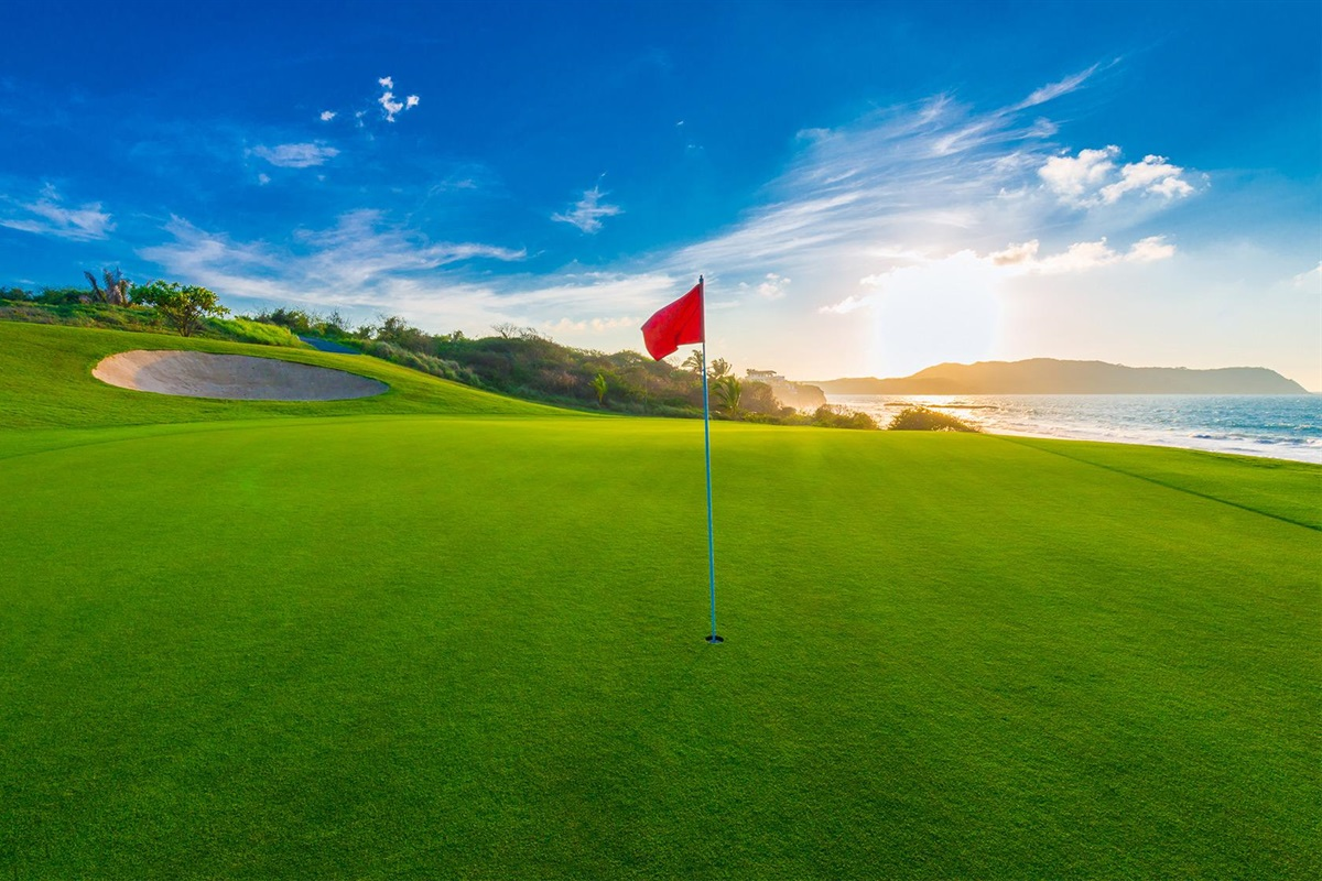 Play golf oceanfront at Bajamar