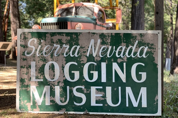 Sierra Nevada Logging Museum - open seasonally next to White Pines Lake