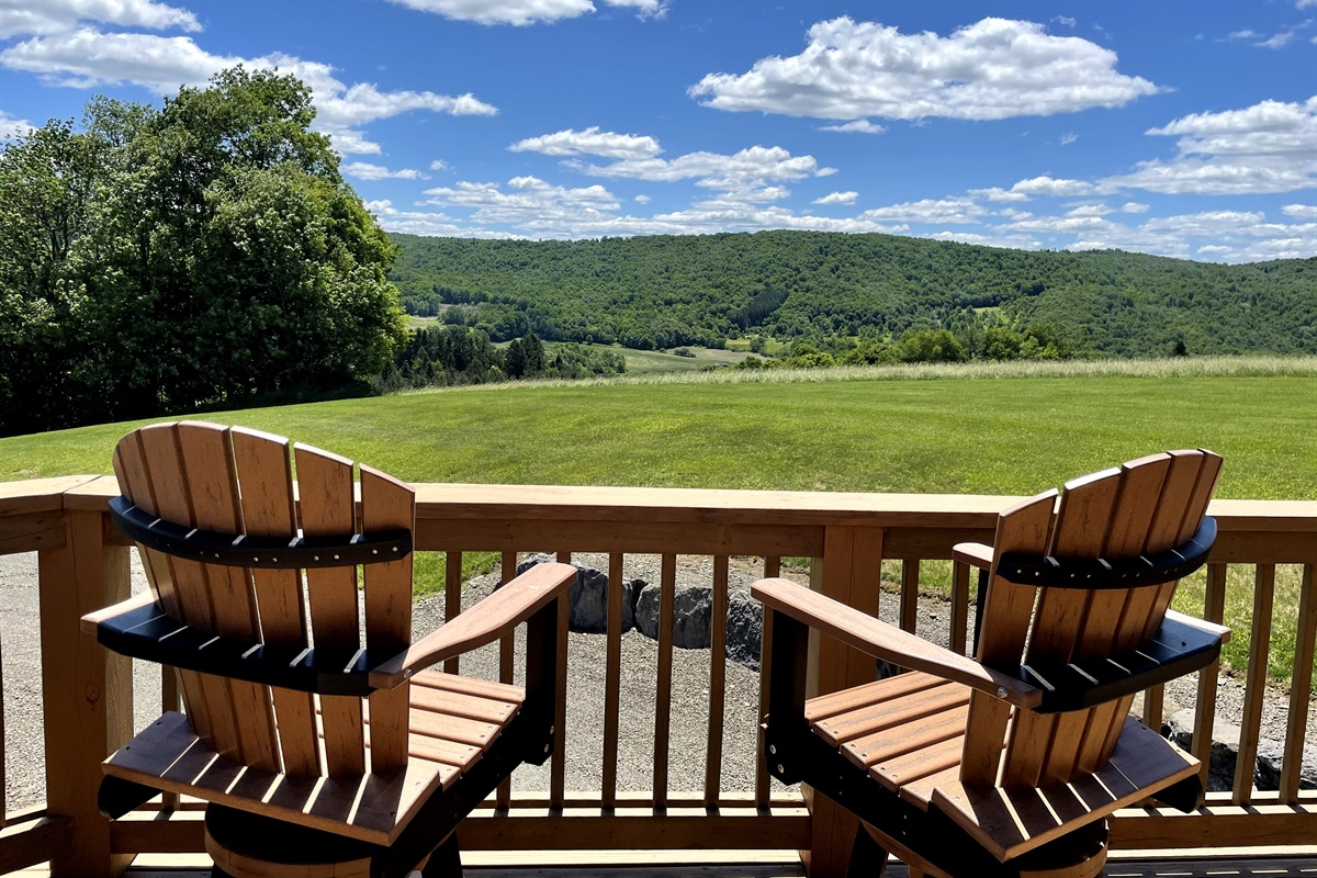 Enjoy long distance views over the rolling hills.