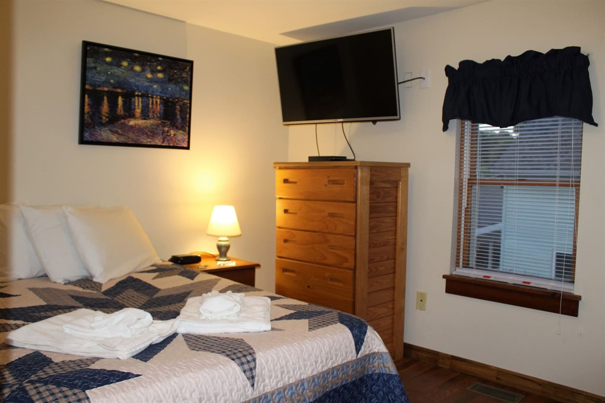 Bedroom with full bed - Unit #5