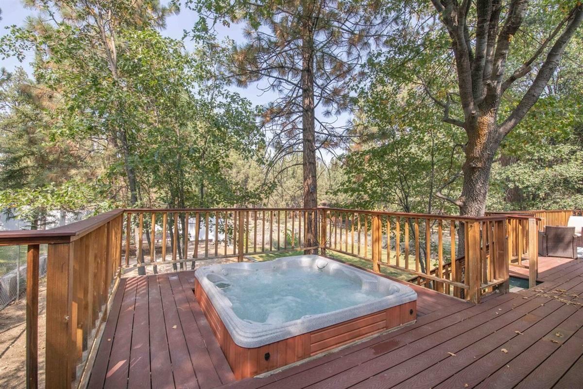 Enjoy a relaxing soak in the hot tub.
