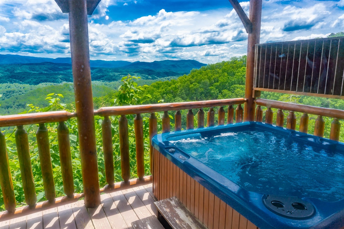 You can start your day relaxing in the hot tub
