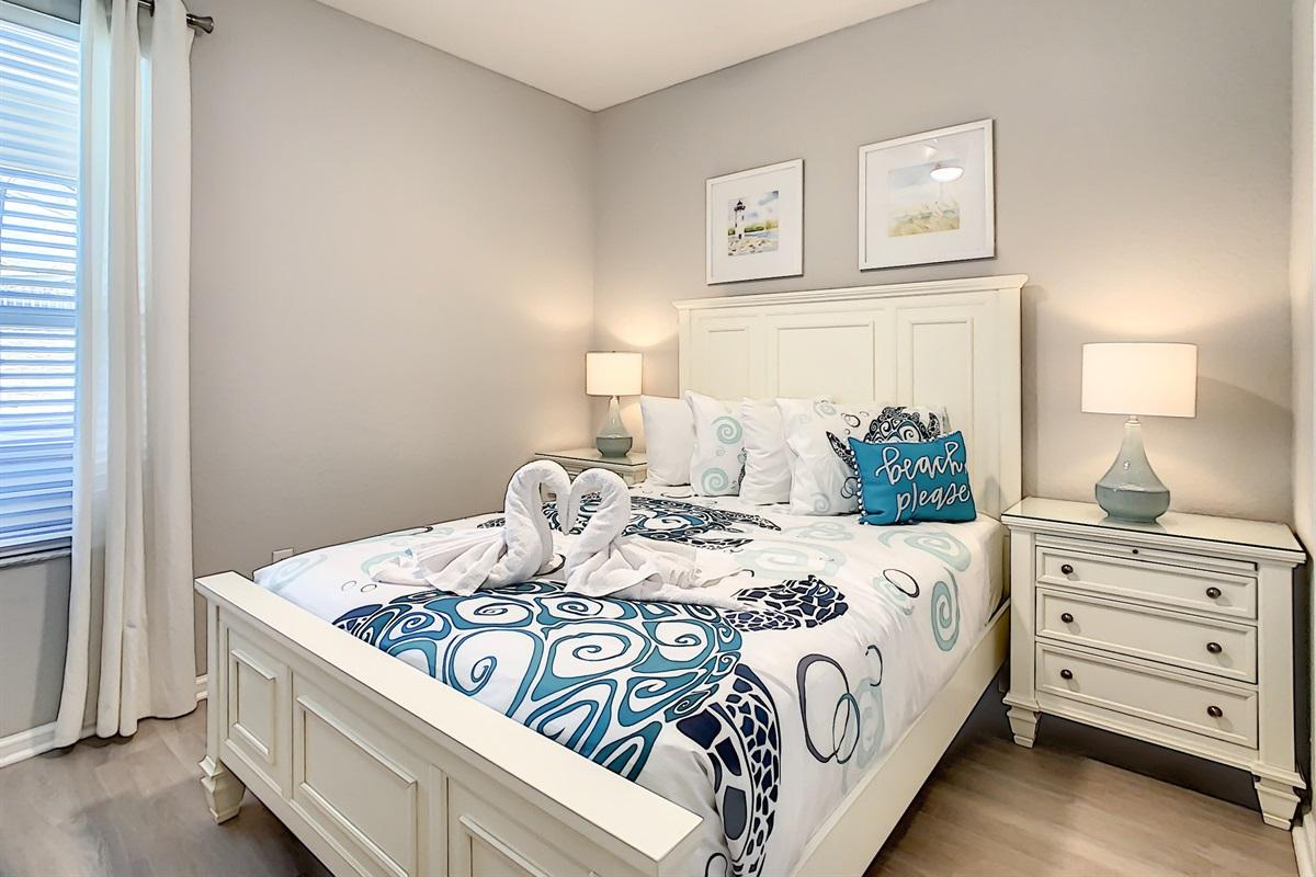 Bedroom #6-Queen Bed-1st Floor