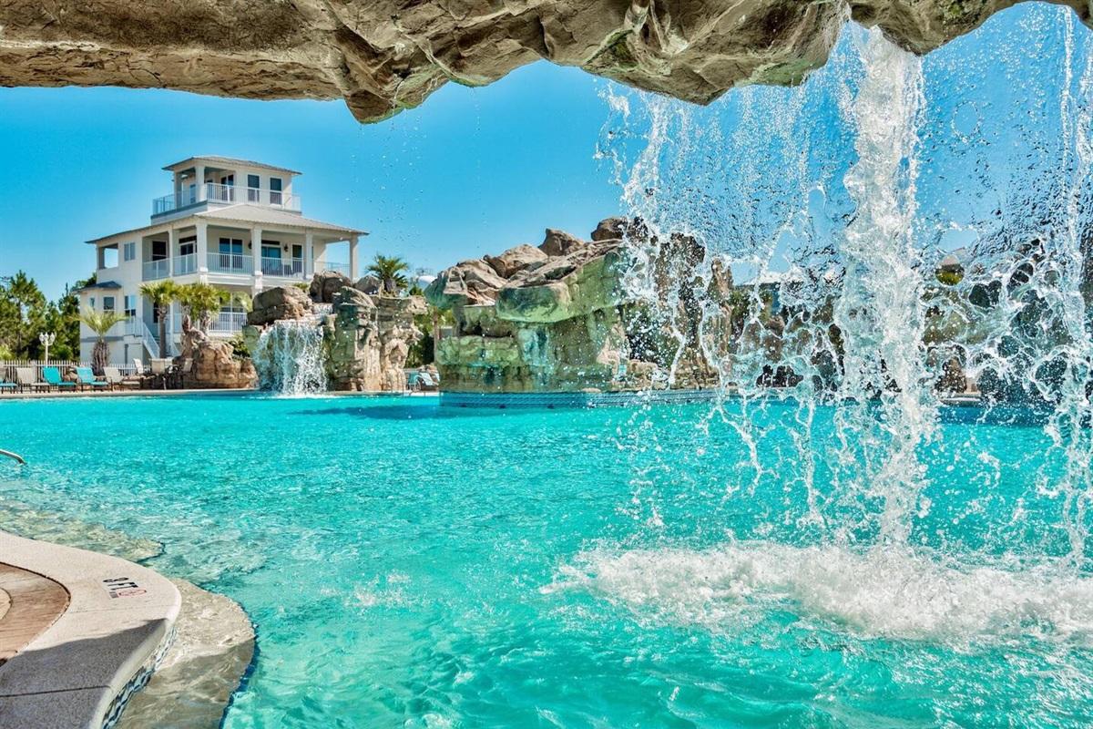 Waterfalls at Pool