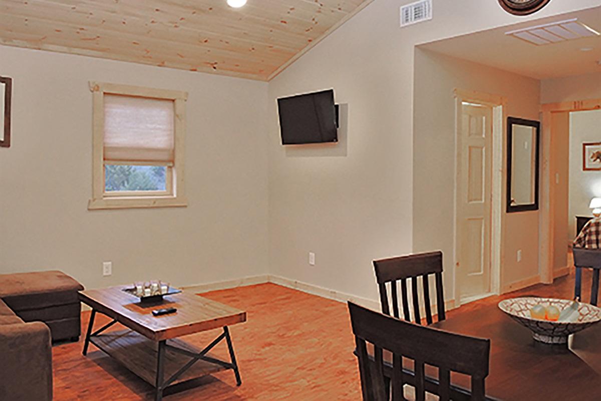 Open floor plan living/dining/kitchen