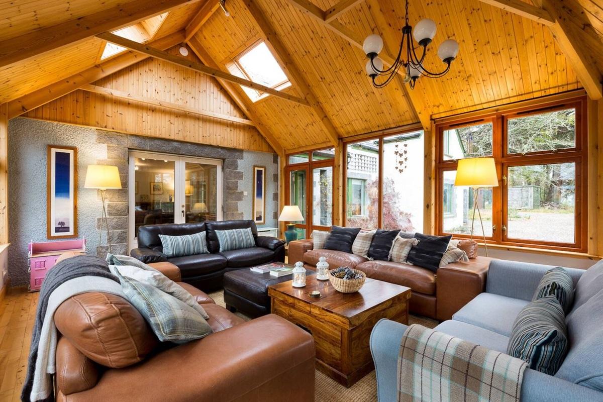 The spacious and convivial sun-room