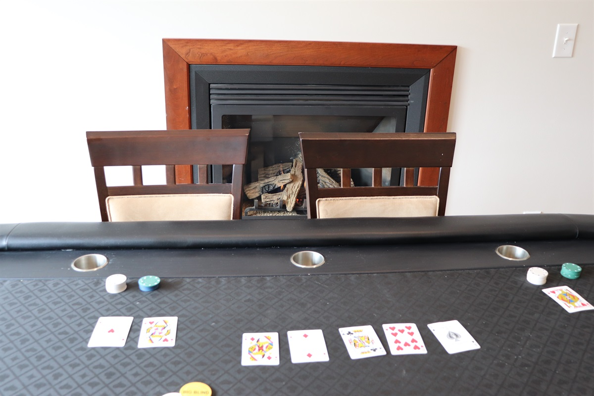 Try your luck at a card game on the authentic card table.