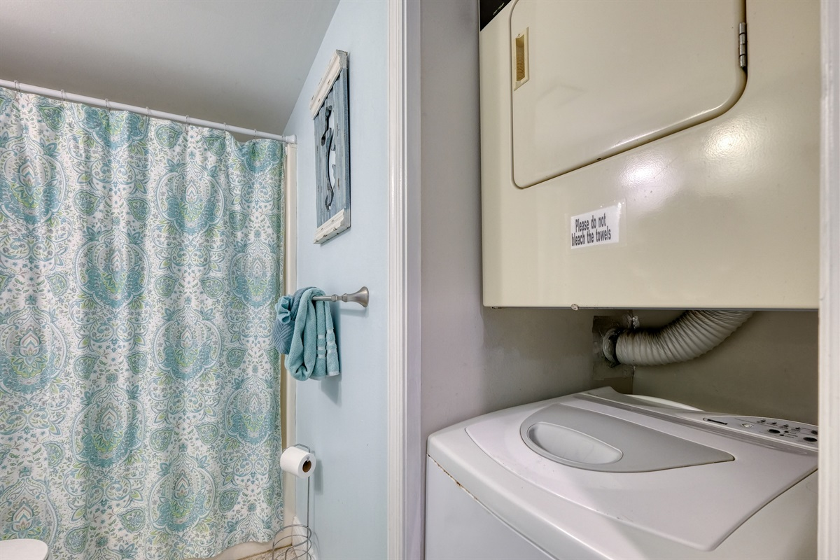 Washer and dyer in condo for guest use