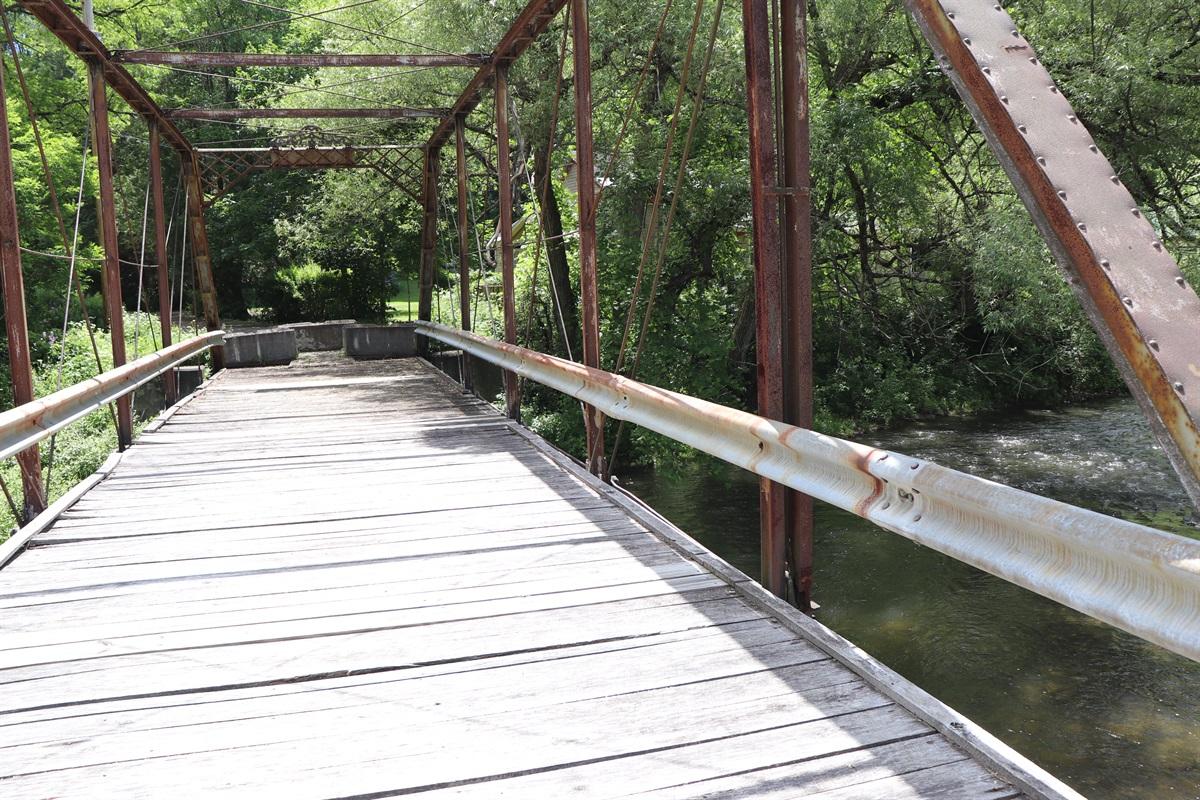 Walking Bridge over oaks creek
