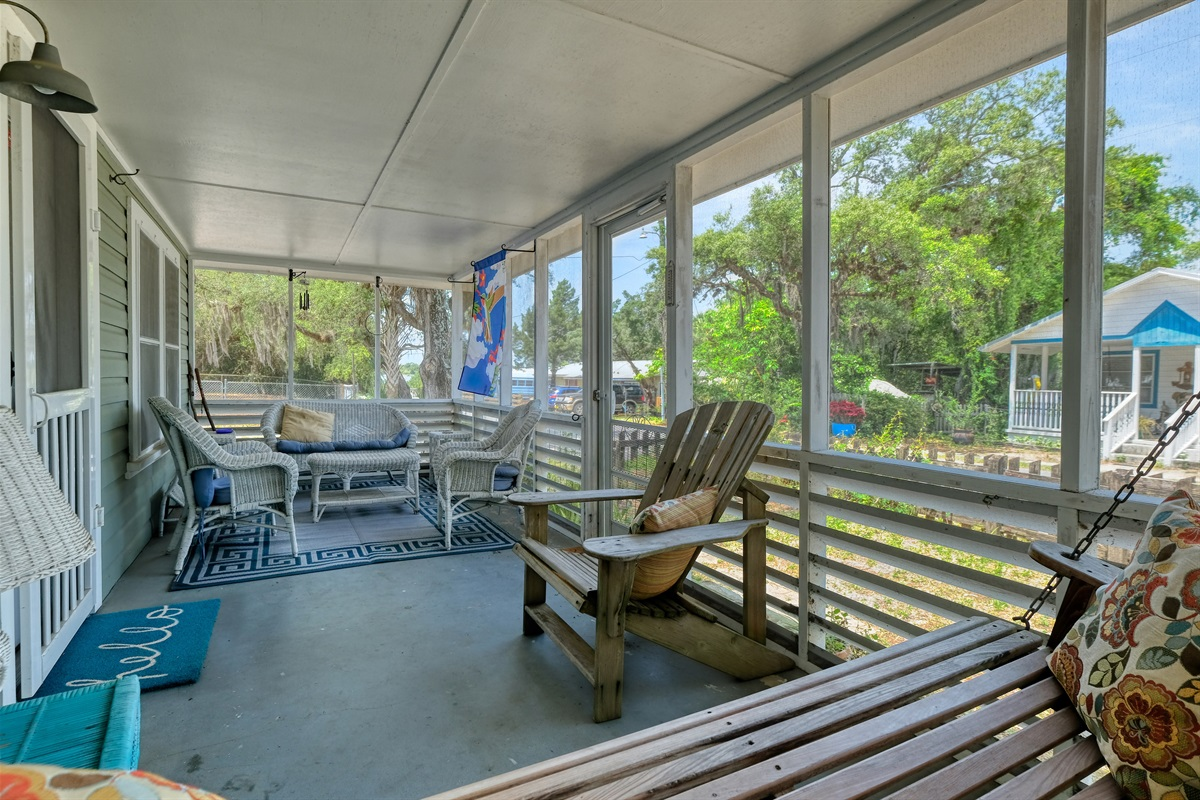 Seating on Screen Porch