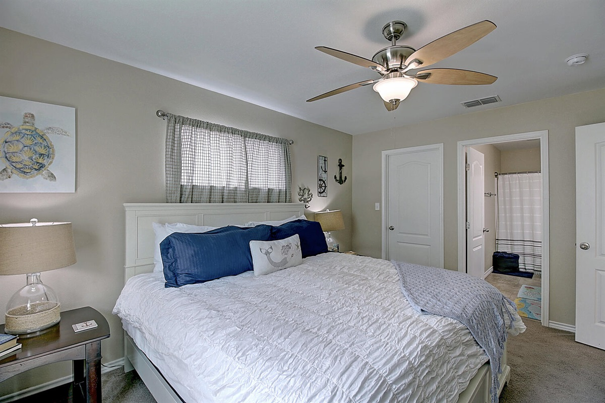 Master Bedroom:  Plush King Bed