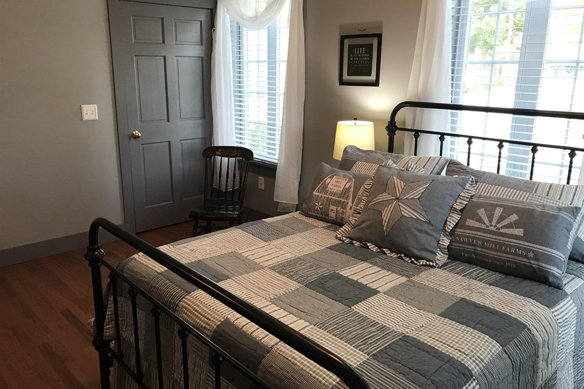 Queen bedroom on 1st floor