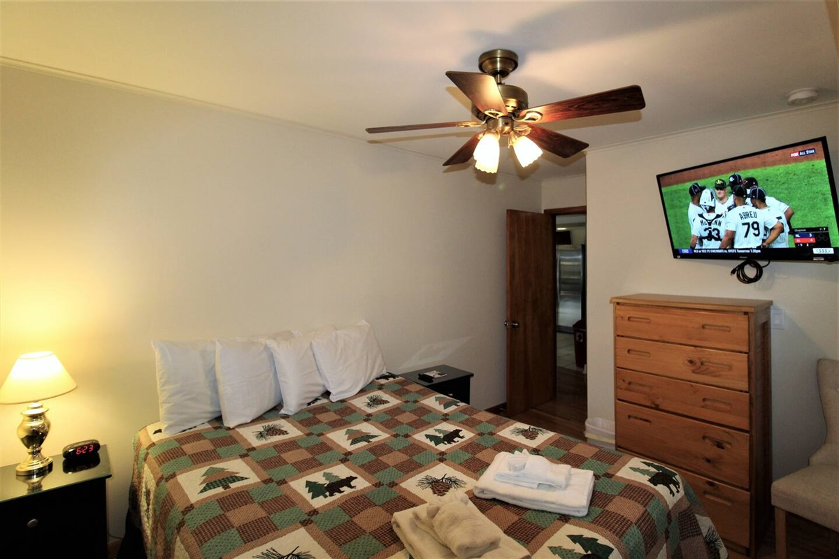 """Bedroom #3 - 43"""" (or larger) wall mounted flat screen smart Roku TV's in every bedroom"""