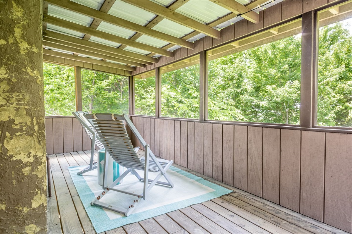 Master bedroom has its own private deck and sitting area