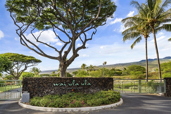 Gated Entrance to Waiulaula Community