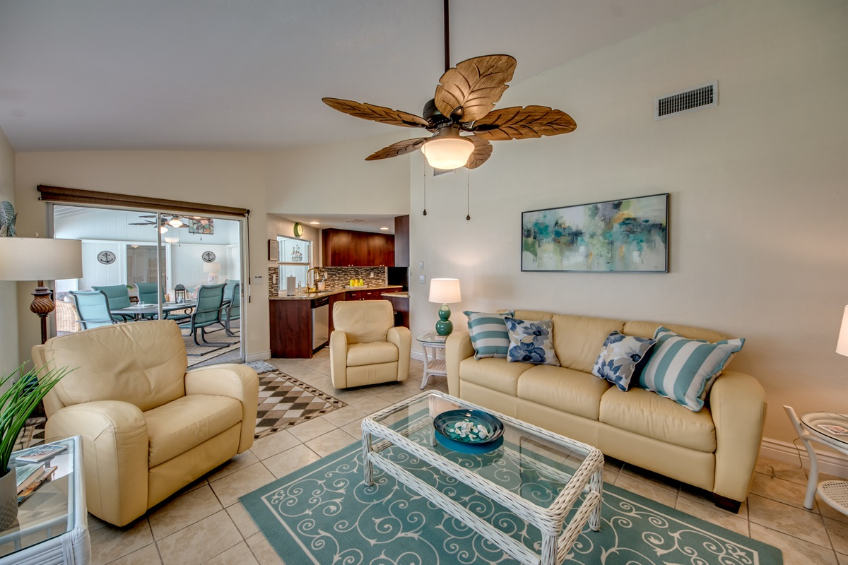 Comfortable Leather in Family room