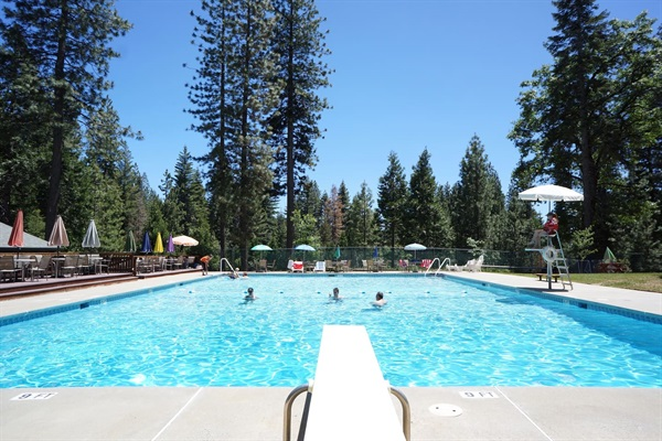 Big Trees Village Recreation Center - highest level of membership means guests swim for free!
