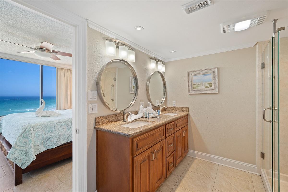 Master Bath Vanity with Double Sinks